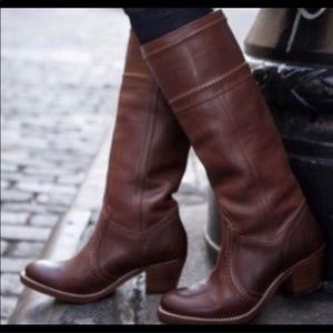 Frye Extended Calf Jane Leather Riding Boot 77230